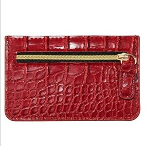 B-Low the Belt card carrying case, red.